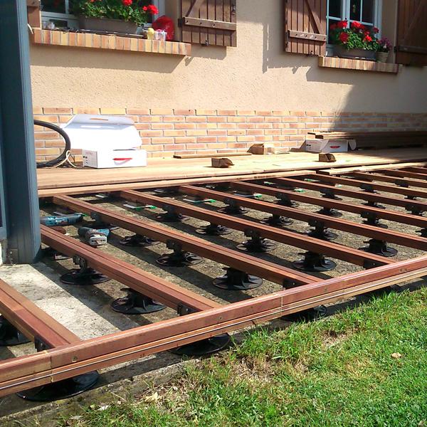 Plot réglable pour terrasse bois Bugal Verindal B40