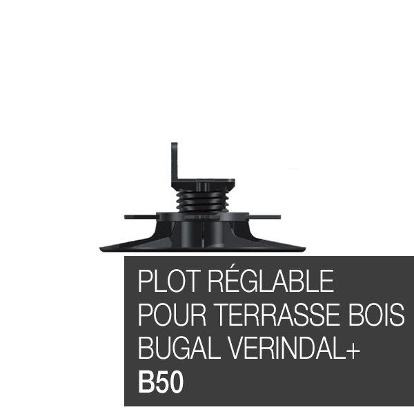 Plot réglable pour terrasse bois Bugal Verindal B50