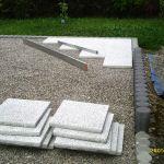 Poser Des Dalles De Terrasse Construction De La Terrasse nord 3 La Pose Des Dalles