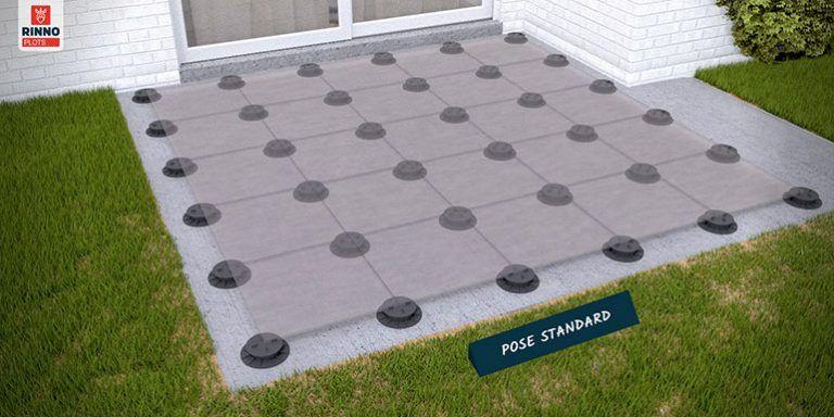 Quelles étapes pour poser sa terrasse en dalles sur plots