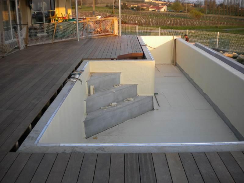 Terrasse en bois sur beton veranda styledevie