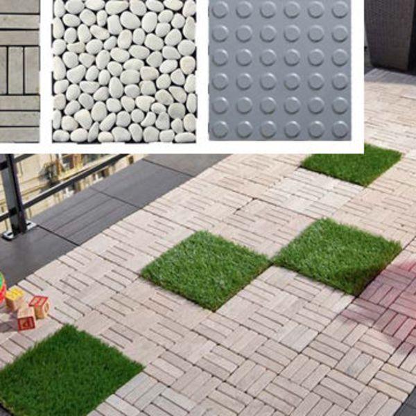 Terrasse pose facile pour les nouvelles dalles Côté Maison