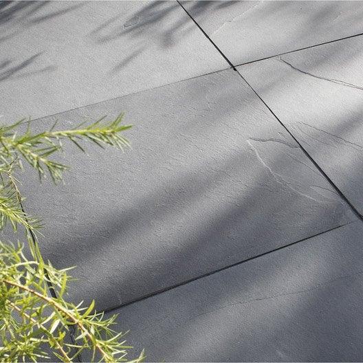 Dalle Gaya ardoise noir Ep 10 mm x L 60 x l 60 cm