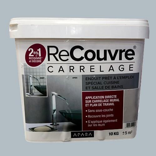 Enduit recouvre carrelage cuisine bains apara Ciment 10kg