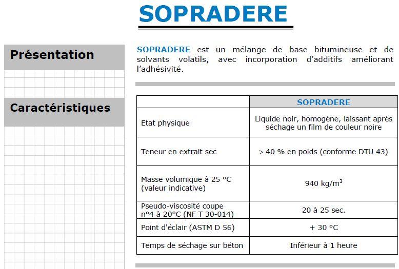 Prix étanchéité toit Terrasse sopradere 30 Litres 120m² Prix = Ht 70 00