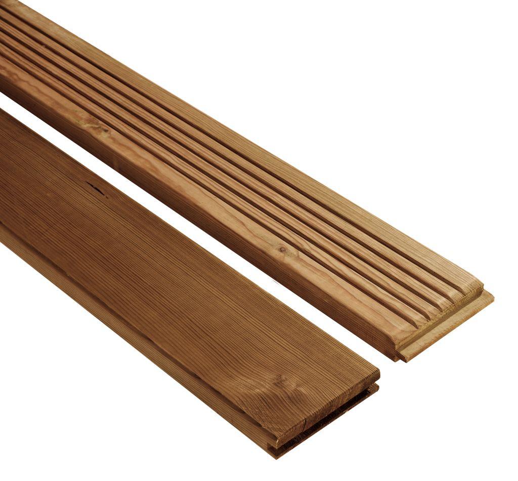12A 009 Lame de terrasse bois rainurée en Pin