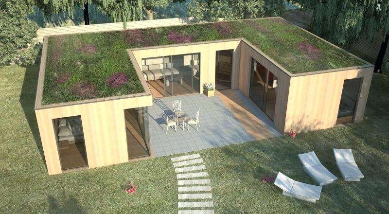 Prix Maison toit Plat Maison Contemporaine Bois Maison ...