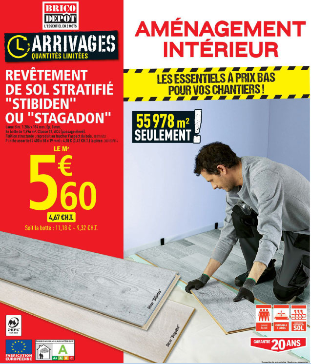 Kit parquet brico depot – Rayon braquage voiture norme