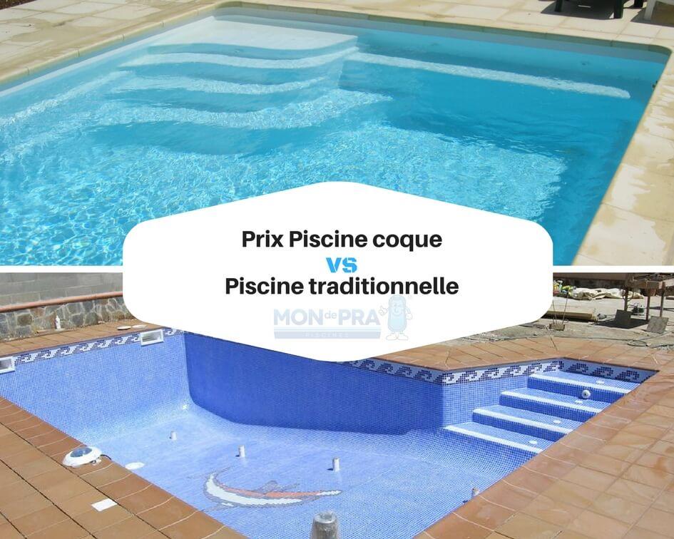 Prix Piscine coque vs piscine traditionnelle