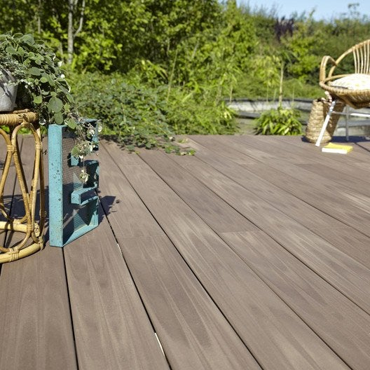 Planche posite Terrasse premium brun L 240 x l 15 cm
