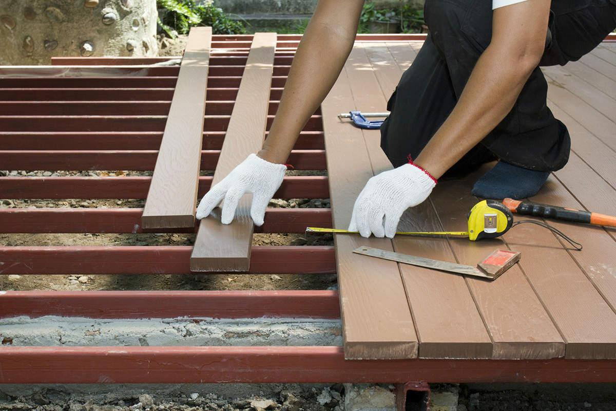 Prix d'une terrasse en bois au m2