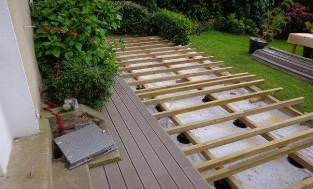Prix terrasse bois en hauteur Mailleraye jardin
