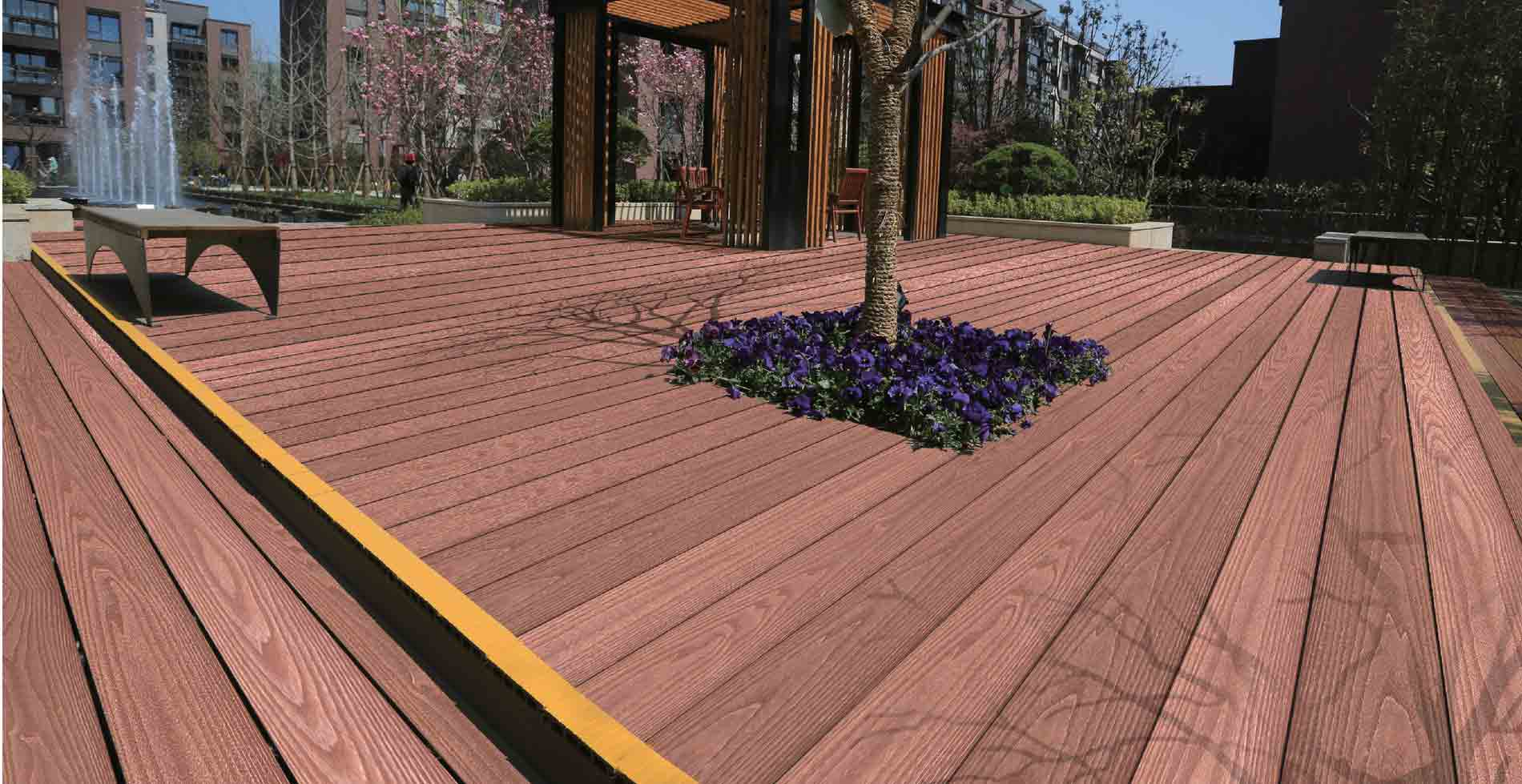 Prix Terrasse Composite Planche De Patio En Posite Ezdeck Natural Terrasse De