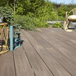 Prix Terrasse Composite Planche Posite Terrasse Premium Brun L 240 X L 15 Cm