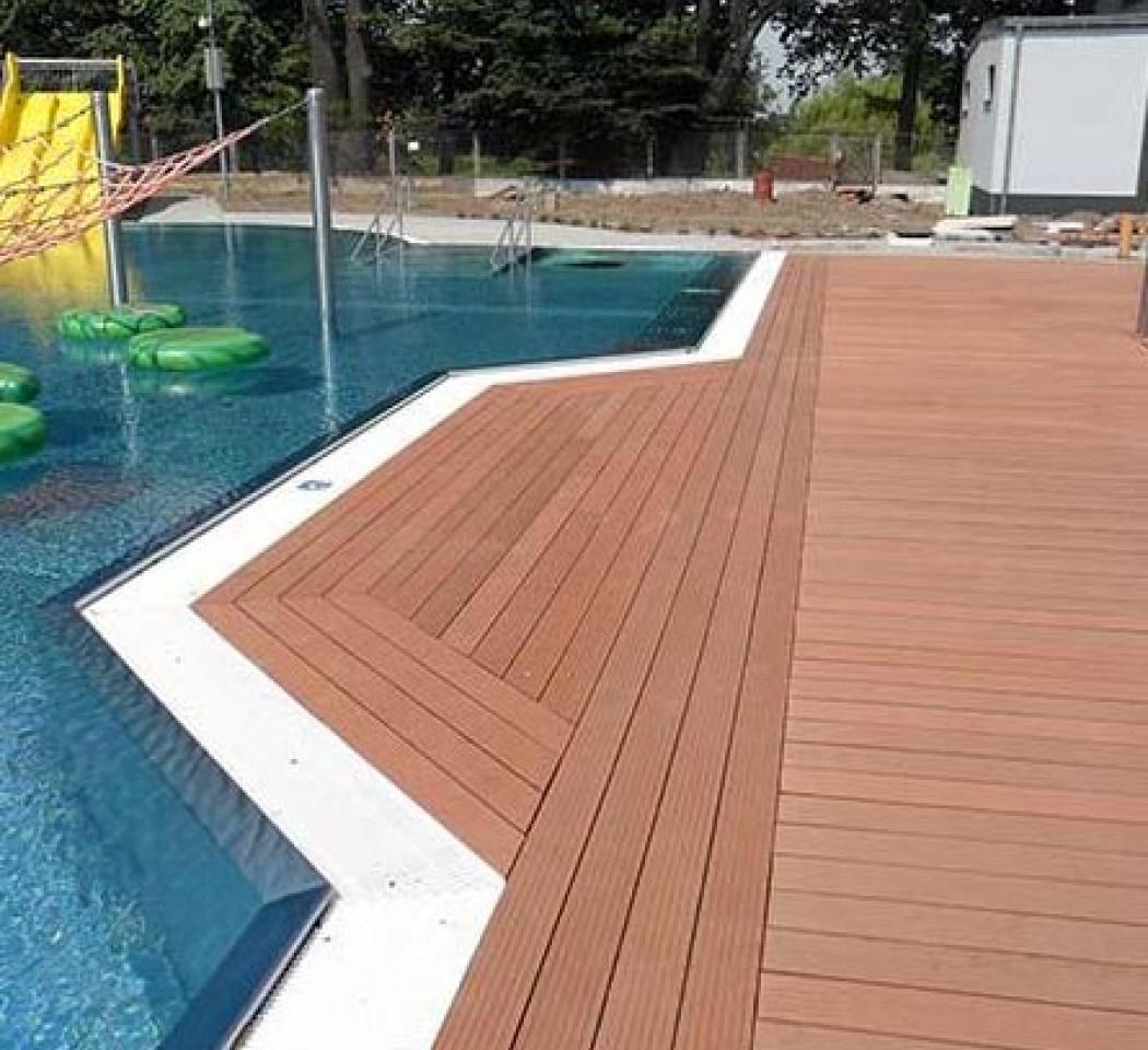 Jardin piscine Lames posite PREMIUM HAVANA