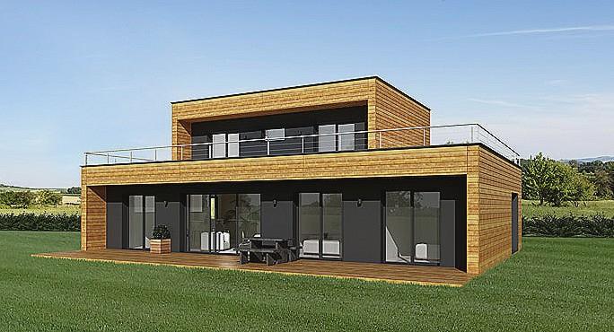 Maison Bois Toit Plat En Kit Ossature Prix Avie Home Lzzy