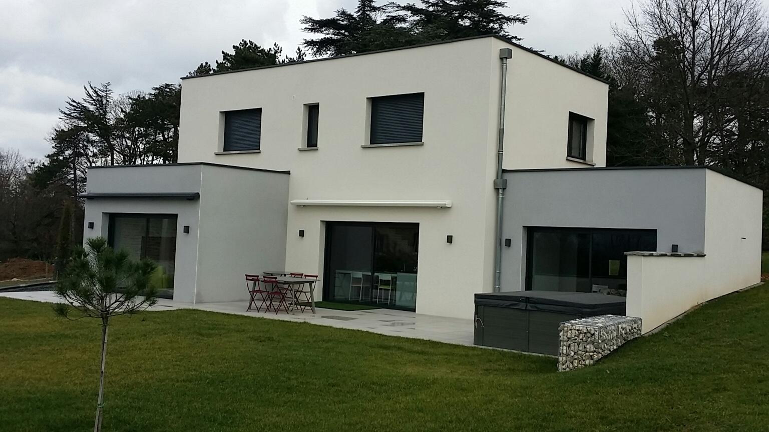Prix construction maison contemporaine toit plat Menuiserie