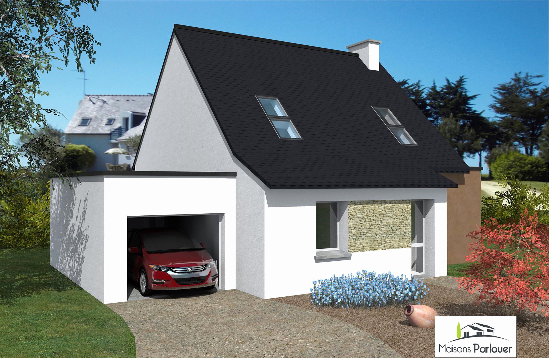 Prix Maison Contemporaine toit Plat De Extension