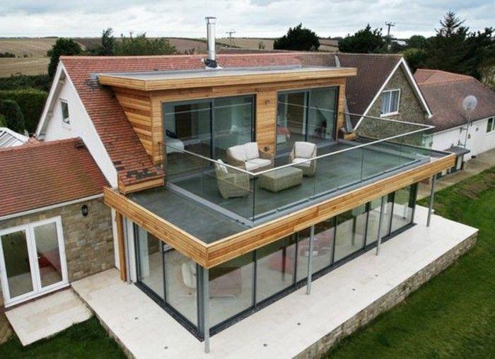 Les 25 meilleures idées de la catégorie Veranda toit plat