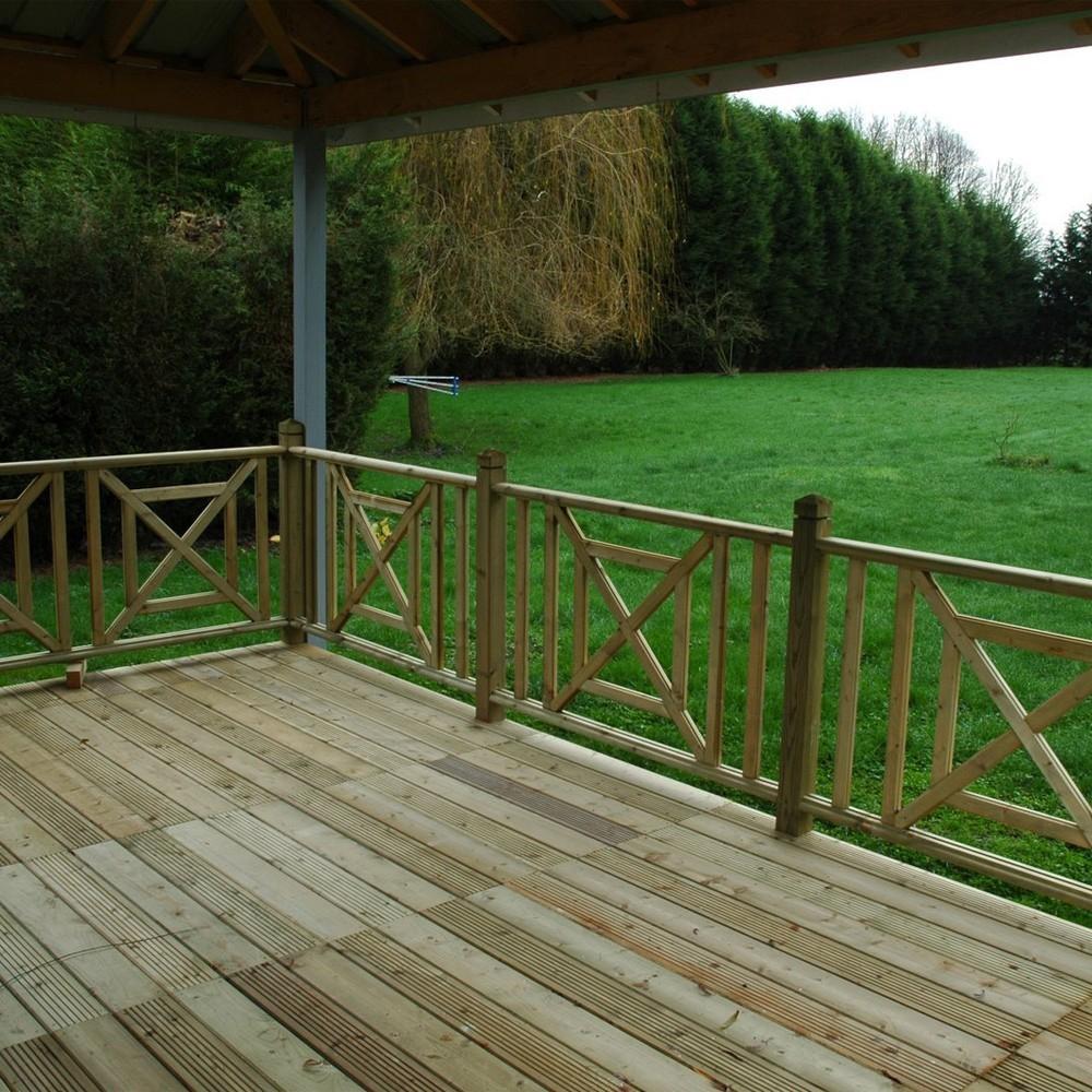 Poteau Bois Pour Terrasse rambarde terrasse bois rampe de garde corps garde corps en