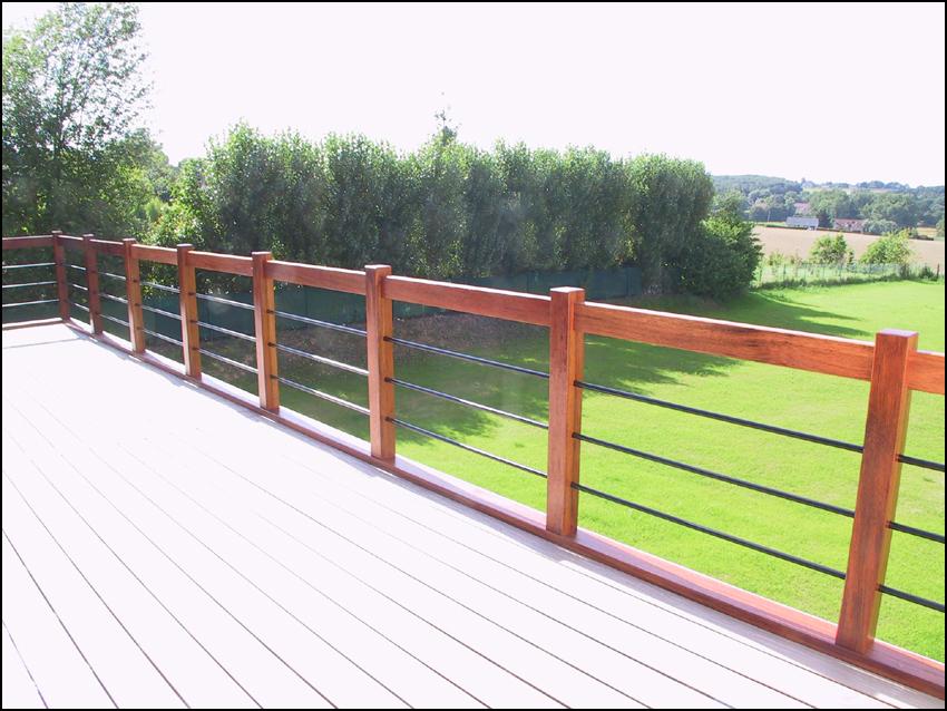 Très Rambarde Bois Terrasse Exterieur KR33