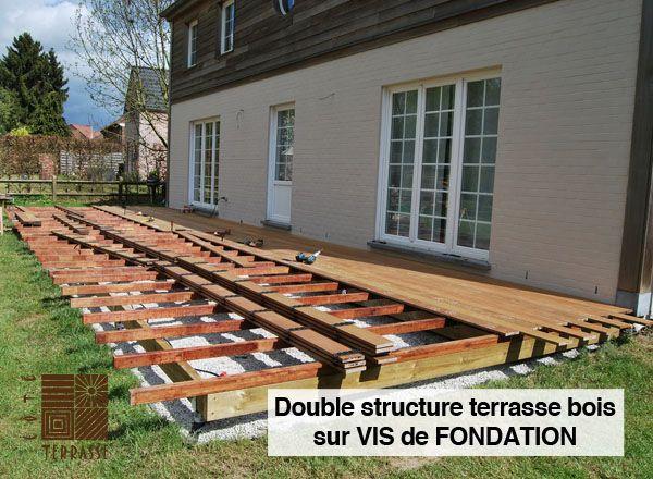 Réalisation d une terrasse en bois double structure sur