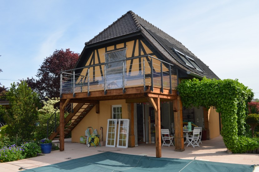 Réalisation d'une terrasse en bois à Kertzfeld Bas Rhin