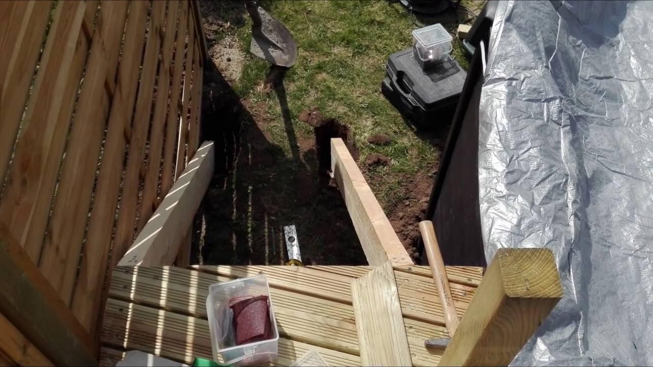 réalisation terrasse bois sur pilotis autour d une piscine