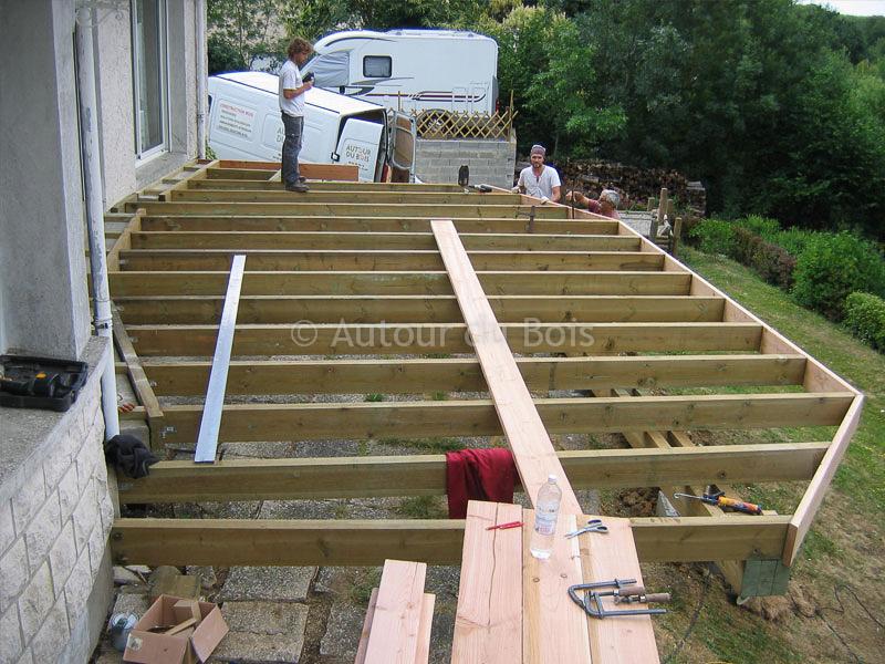 Construction assistée de votre terrasse bois sol ou