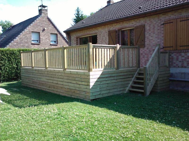 Prix pose terrasse bois posite sur terre & dalle beton