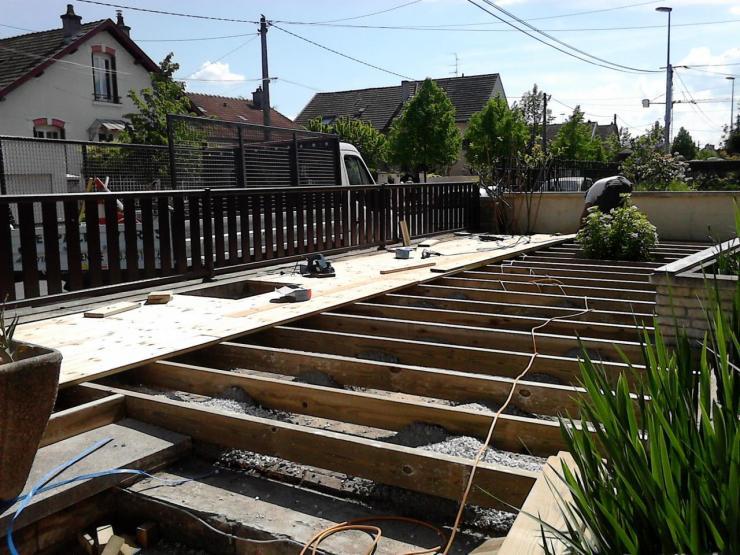Réalisation d une terrasse bois 2