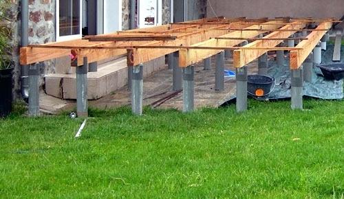 Realiser Une Terrasse En Bois ment Faire Une Terrasse