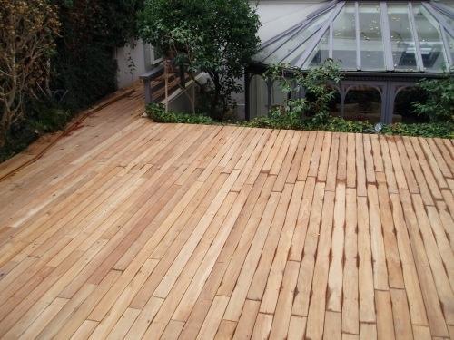 Stupefiant Recouvrir Une Terrasse En Bois Beton Avec Du