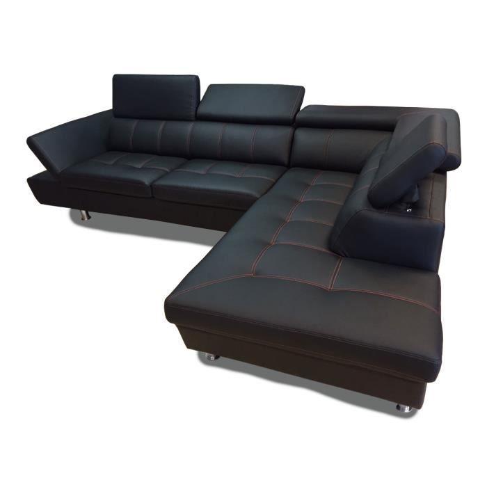 Canapé d angle 5 places EXCELLENCE simili cuir Achat