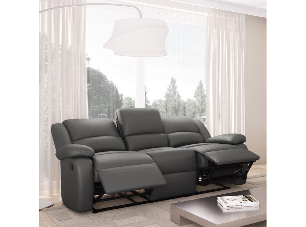 Canapé Relaxation 3 places Simili cuir DETENTE Usinestreet