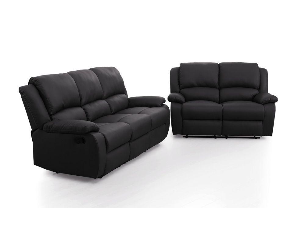 Canapés de Relaxation DETENTE 2 et 3 places en Simili Noir