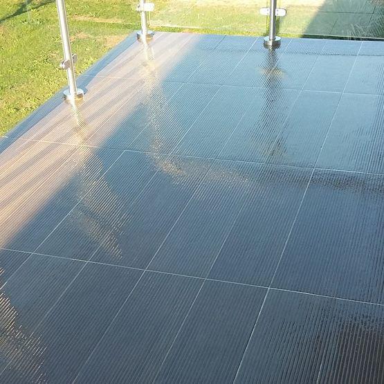 Résine transparente étanchéité terrasse carrelée KIT