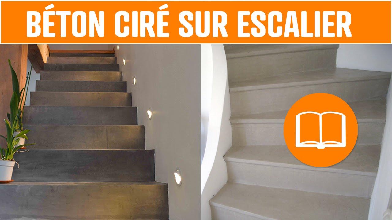 béton ciré sol mur escalier terrasse application outils
