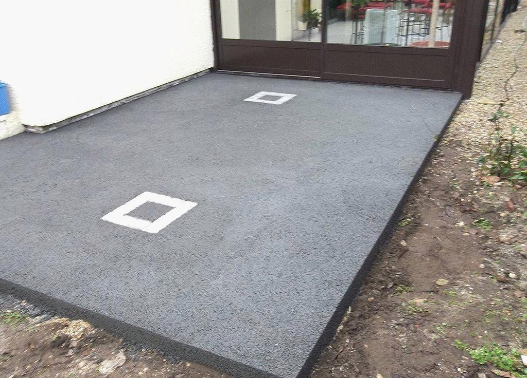 Idee revetement terrasse beton veranda styledevie