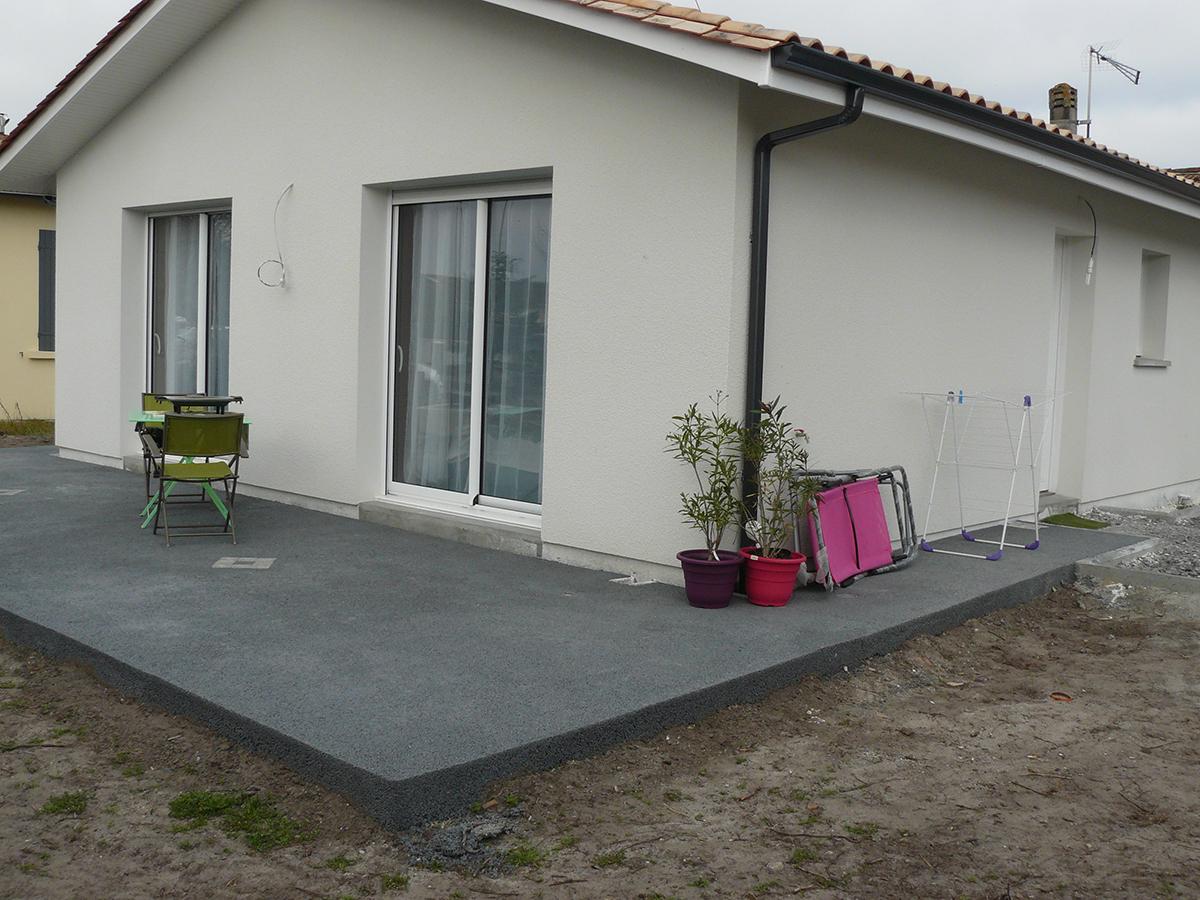 terrasse beton marbre
