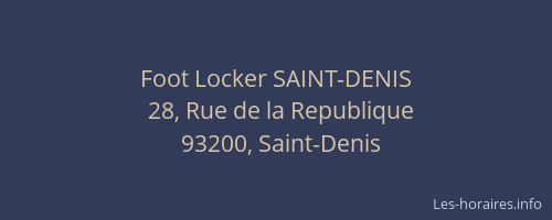 foot locker de saint denis