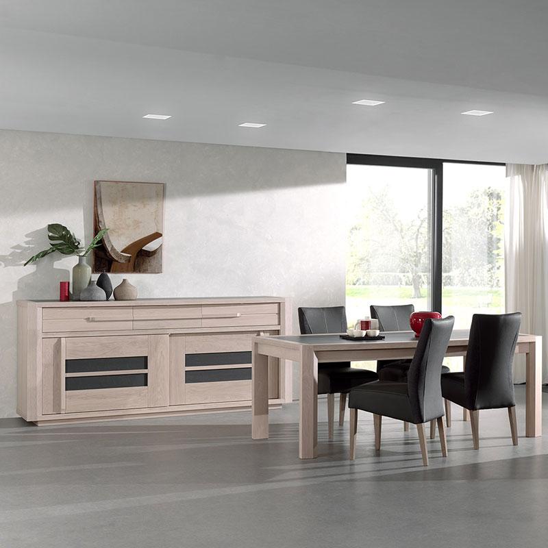 Salle a manger plete moderne salle à manger bois et gris