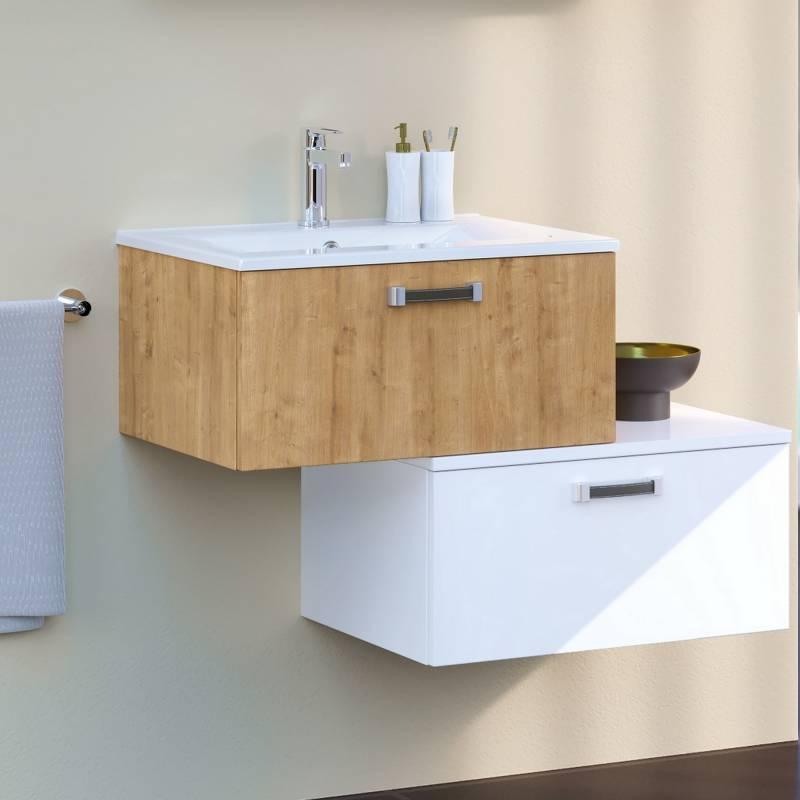 Meuble salle de bain design 2 tiroirs Meuble rangement