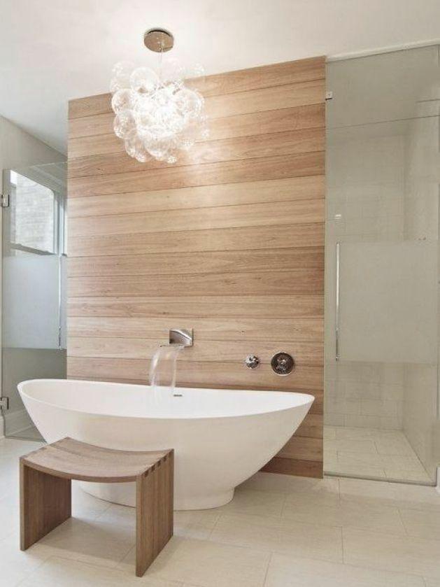 Une salle de bain en blanc et bois Joli Place