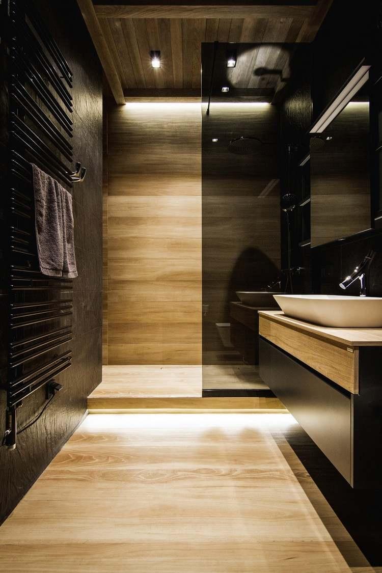 Salle de bain noire 25 idées afin de réussir l ambiance