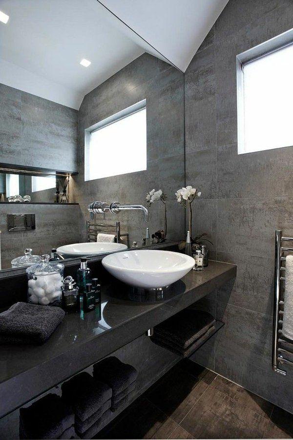 Une salle de bains grise élégance et chic contemporain