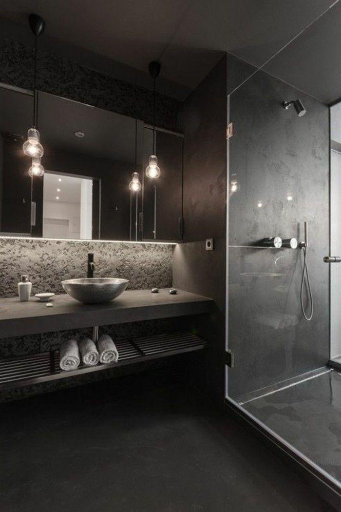 La beauté de la salle de bain noire en 44 images