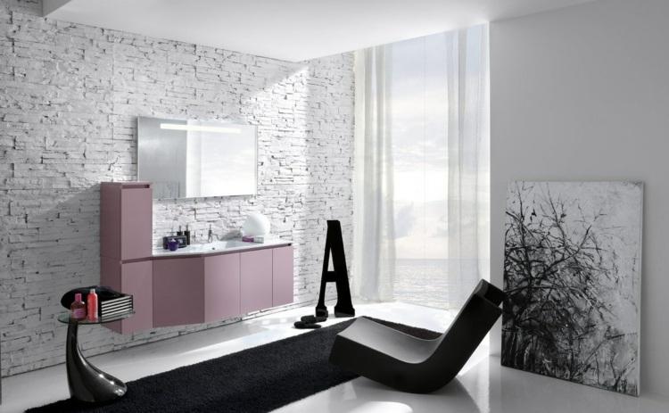 Salle de bain noir et blanc une pièce élégante et