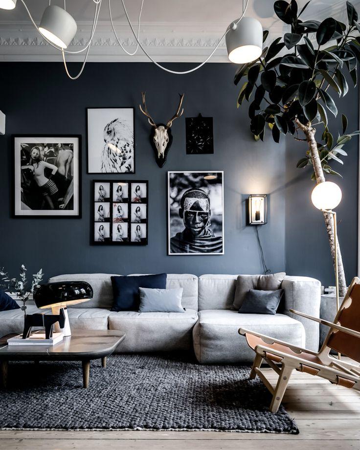 Déco Salon deco salon gris blanc mur ListSpirit