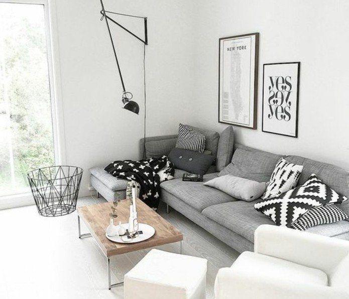Déco Salon suggestion salon gris et blanc couleur